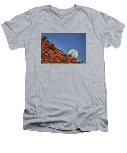Moonrise Men's V-Neck T-Shirt by Rick Furmanek