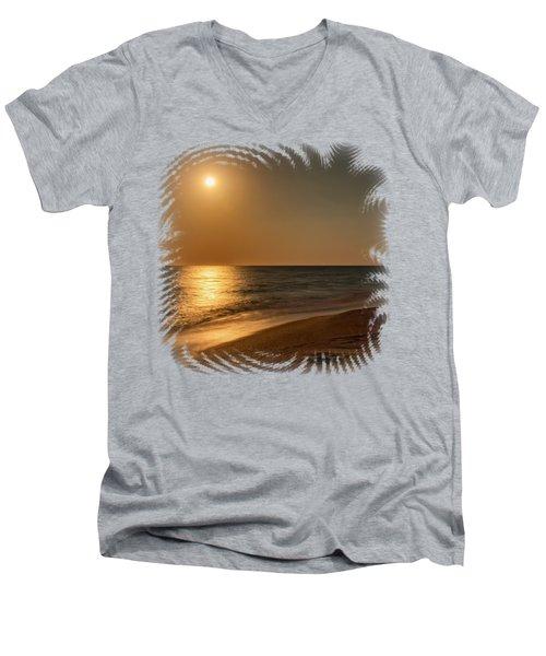Moonscape 3 Men's V-Neck T-Shirt