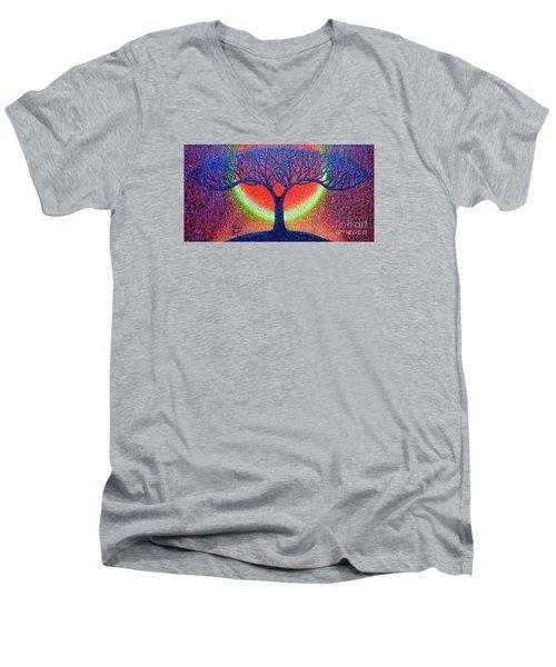 moonshine-2/God-is light/ Men's V-Neck T-Shirt by Viktor Lazarev
