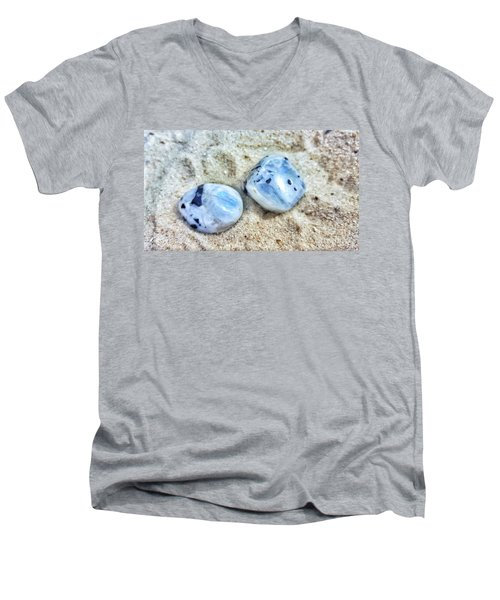 Moonstones Men's V-Neck T-Shirt by Rachel Hannah