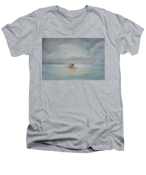 Moored Boat Men's V-Neck T-Shirt
