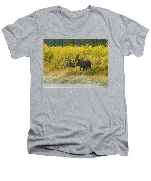 Moose Couple Men's V-Neck T-Shirt