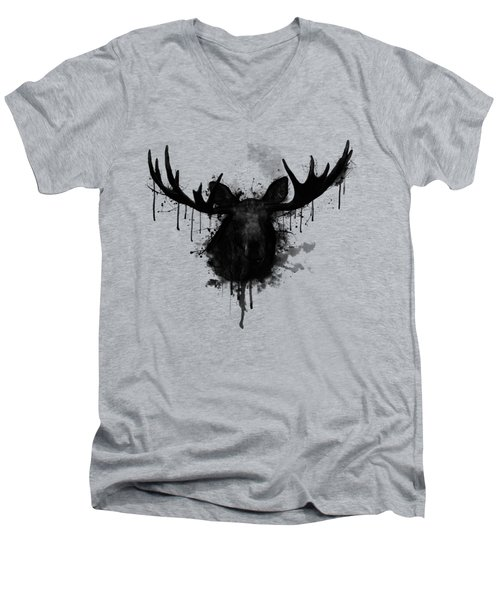Moose Men's V-Neck T-Shirt