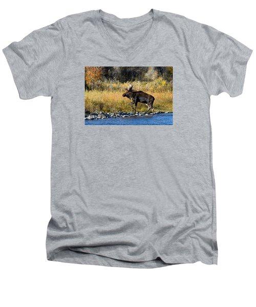 Moose X-ing Men's V-Neck T-Shirt