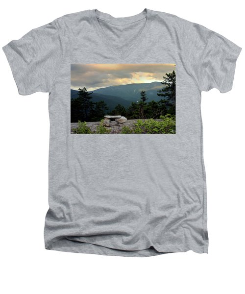 Moosilaukee View From Bench On Blueberry Mt. Men's V-Neck T-Shirt