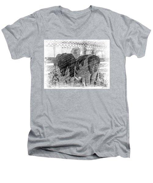 Moo...ving At The County Fair Men's V-Neck T-Shirt