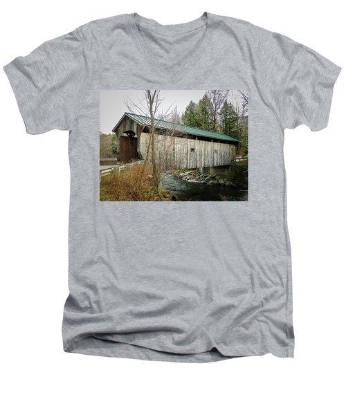 Morgan Covered Bridge Men's V-Neck T-Shirt