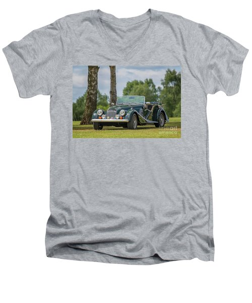 Men's V-Neck T-Shirt featuring the photograph Morgan Sports Car by Adrian Evans