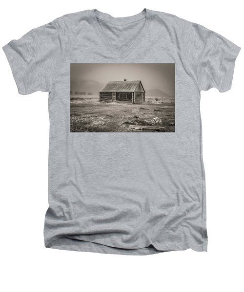 Mormon Row Grand Teton National Park  Men's V-Neck T-Shirt