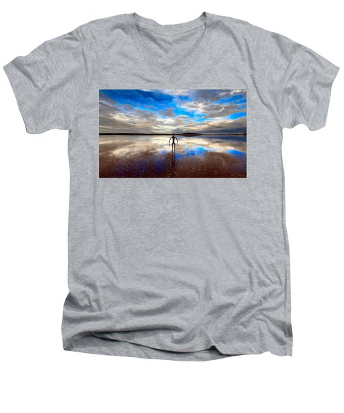 Morning Arrival At Lake Ballard Men's V-Neck T-Shirt