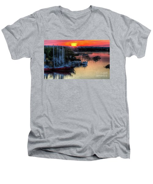 Men's V-Neck T-Shirt featuring the photograph Morning Bliss by Maddalena McDonald