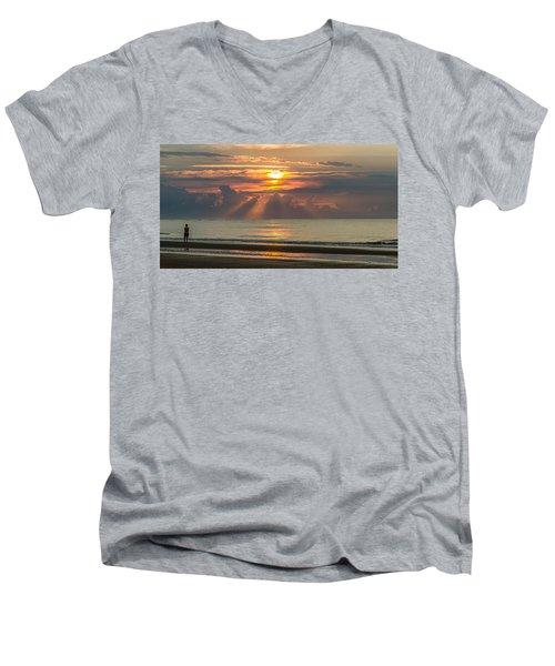 Morning Break Men's V-Neck T-Shirt
