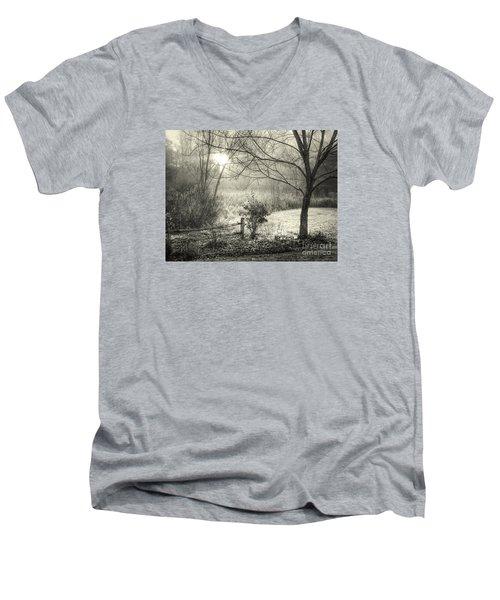 Morning Breaking Men's V-Neck T-Shirt by Betsy Zimmerli