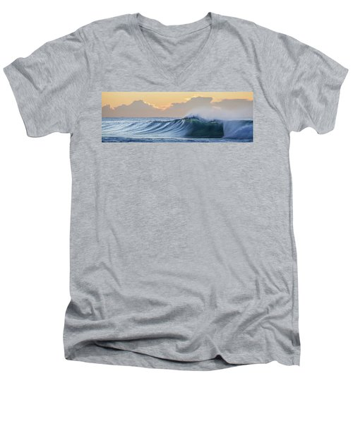 Morning Breaks Men's V-Neck T-Shirt by Az Jackson