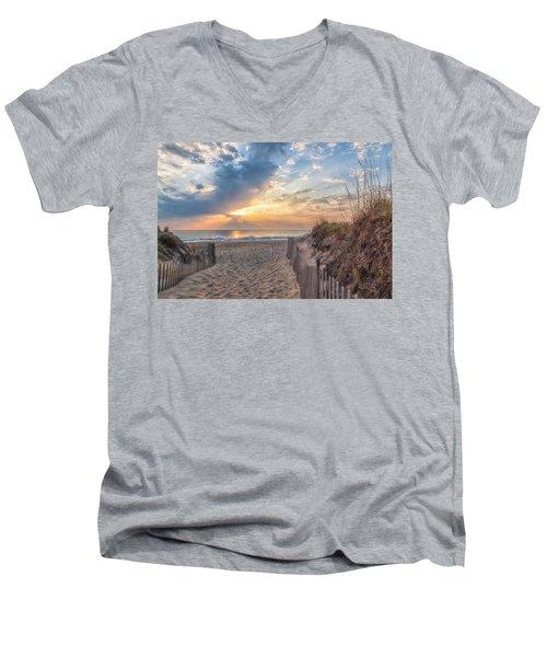 Morning Breaks Men's V-Neck T-Shirt by David Cote