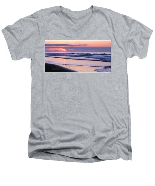 Morning Calm Men's V-Neck T-Shirt by John Loreaux