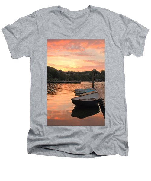 Men's V-Neck T-Shirt featuring the photograph Morning Calm by Roupen  Baker