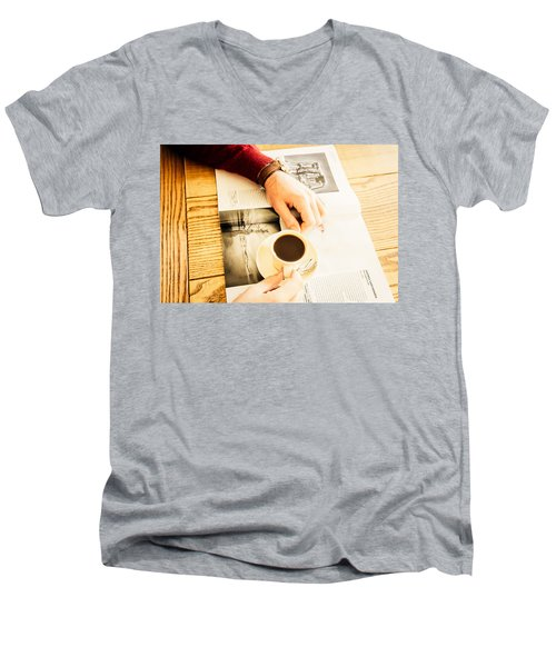 Morning Coffee Men's V-Neck T-Shirt