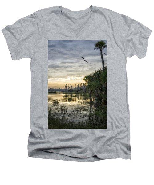 Morning Fly-by Men's V-Neck T-Shirt