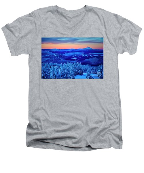 Morning From Timberline Lodge Men's V-Neck T-Shirt