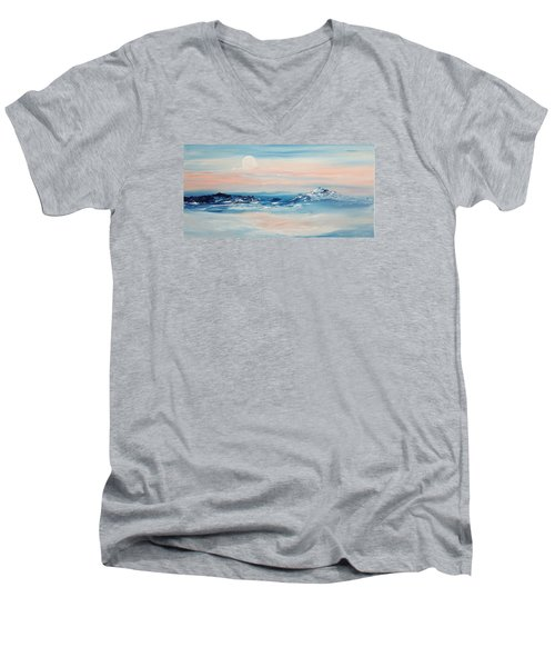 Morning Full Moon Men's V-Neck T-Shirt