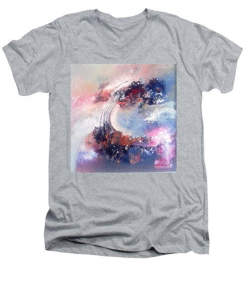 Morning Glory 110 Men's V-Neck T-Shirt by Sanjay Punekar