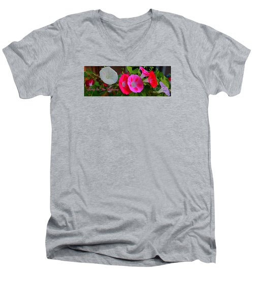 Morning Glory Banner Men's V-Neck T-Shirt