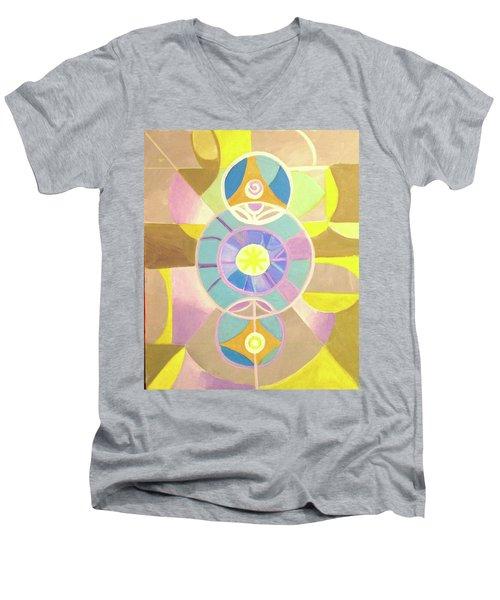 Morning Glory Geometrica Men's V-Neck T-Shirt