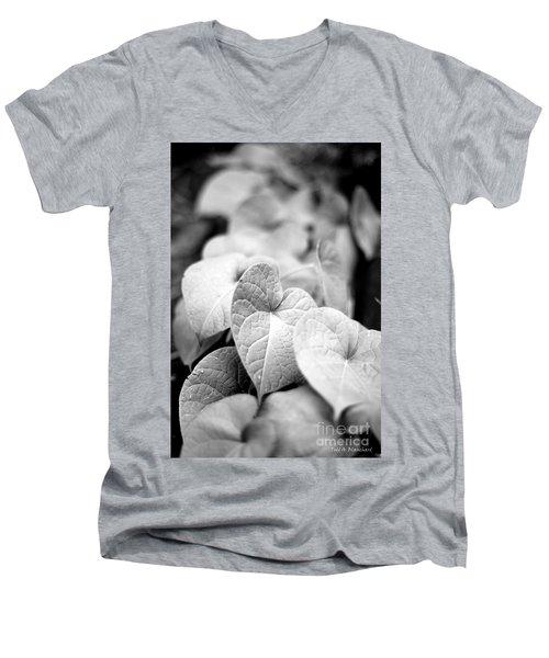 Morning Glory Vines Men's V-Neck T-Shirt