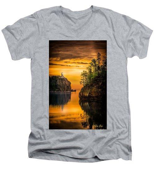 Morning Glow Against The Light Men's V-Neck T-Shirt