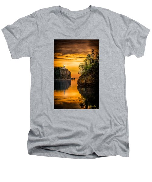 Morning Glow Against The Light Men's V-Neck T-Shirt