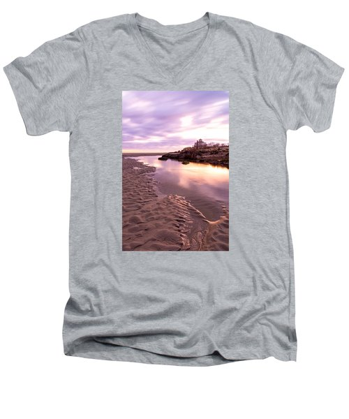 Morning Glow Good Harbor Men's V-Neck T-Shirt