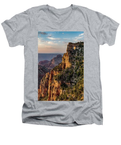 Morning Glow On Angels Window Men's V-Neck T-Shirt