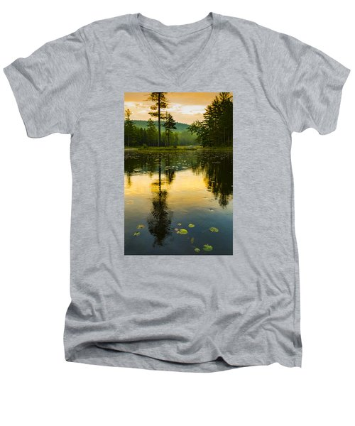 Morning Glow On Lake Men's V-Neck T-Shirt