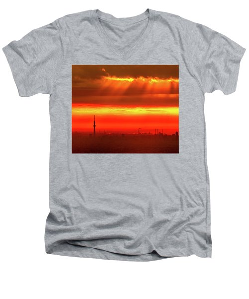Morning Glow Men's V-Neck T-Shirt by Tatsuya Atarashi