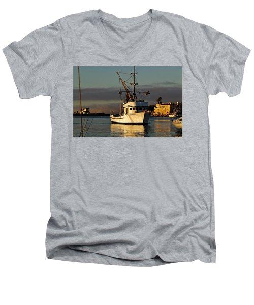 Morning Harbor Light Men's V-Neck T-Shirt