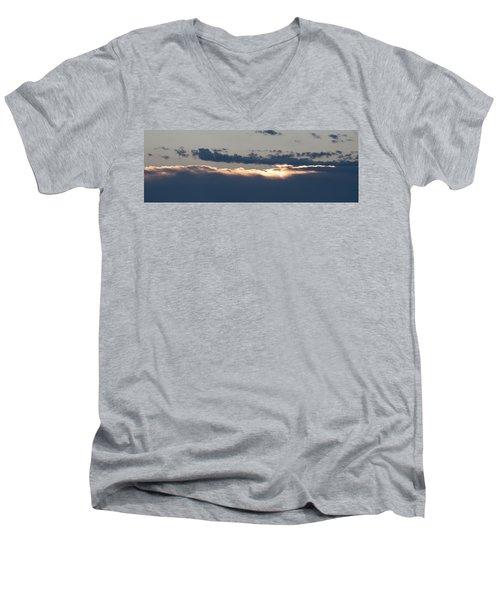 Men's V-Neck T-Shirt featuring the photograph Morning Has Broken by Allen Carroll