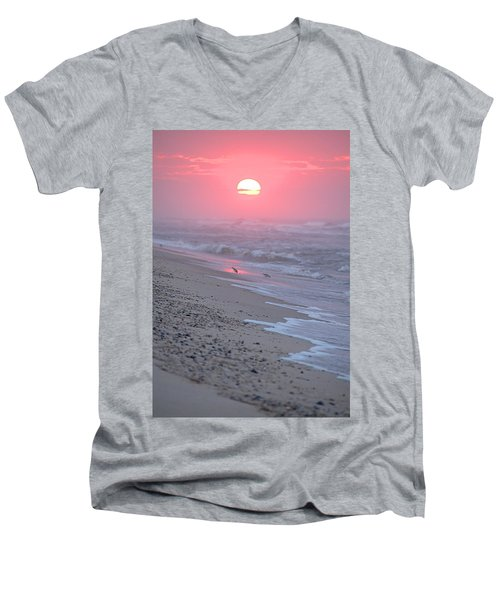 Men's V-Neck T-Shirt featuring the photograph Morning Haze by  Newwwman