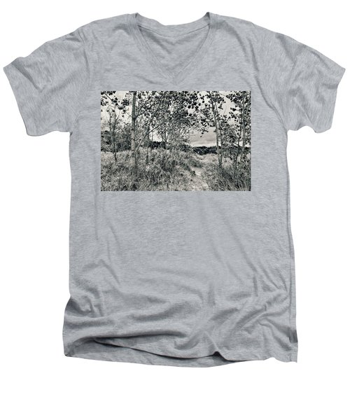 Men's V-Neck T-Shirt featuring the photograph Morning In The Dunes by Michelle Calkins