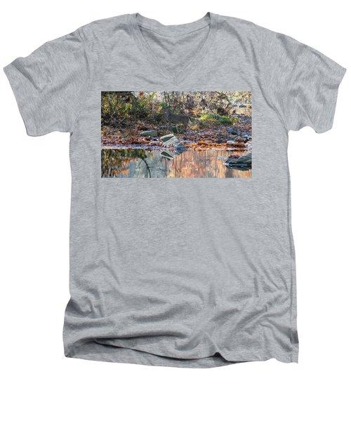 Morning In The Woods Men's V-Neck T-Shirt