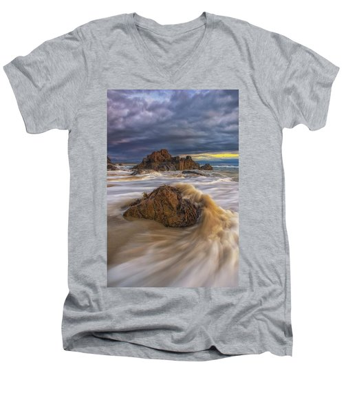 Morning Light At Marginal Way Men's V-Neck T-Shirt