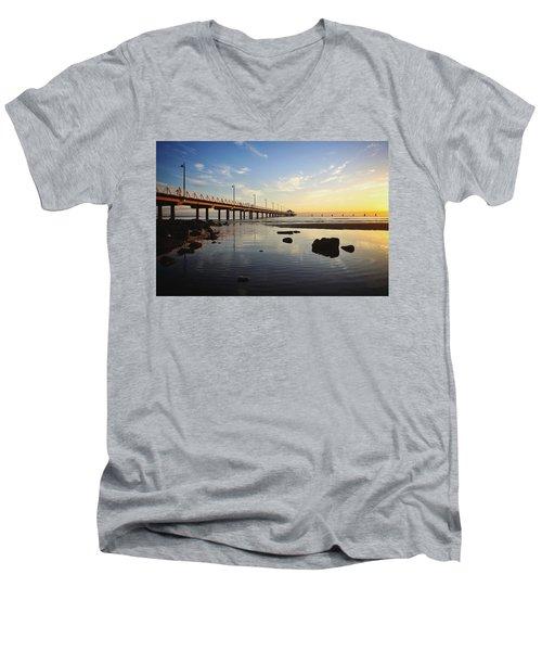 Morning Light Down By The Pier Men's V-Neck T-Shirt
