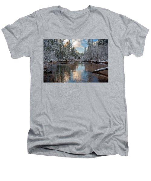 Morning Light On Grand Marais Creek Men's V-Neck T-Shirt
