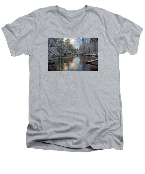Morning Light On Grand Marais Creek Men's V-Neck T-Shirt