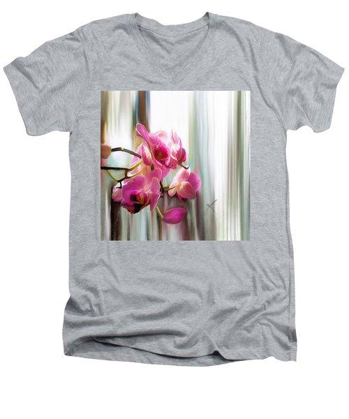 Morning Light Orchids Men's V-Neck T-Shirt