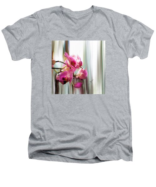 Morning Light Orchids Men's V-Neck T-Shirt