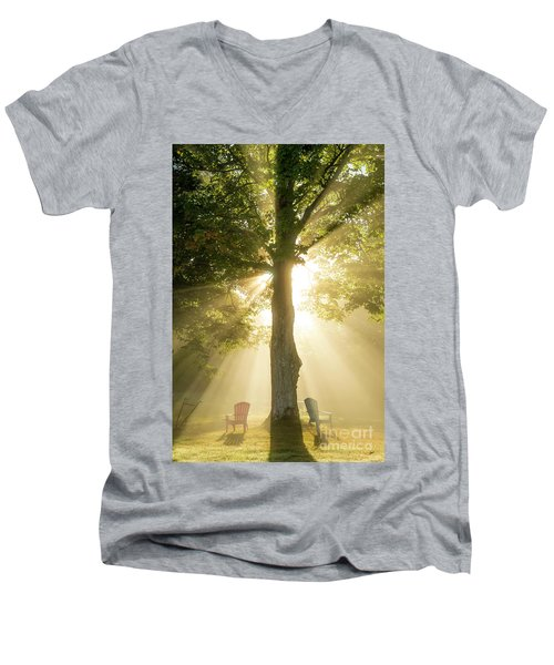 Morning Light Shining Down Men's V-Neck T-Shirt