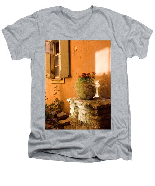 Morning Light Tuscany Men's V-Neck T-Shirt