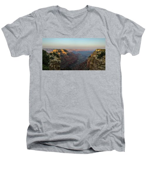 Morning Lights Wotans Throne Men's V-Neck T-Shirt