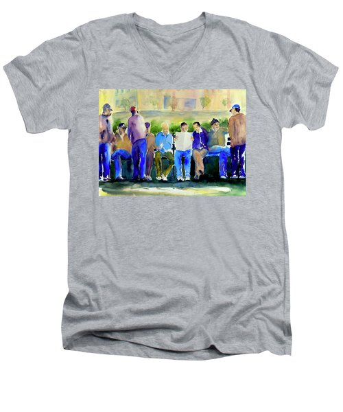 Morning Meeting In Portsmouth Square Men's V-Neck T-Shirt
